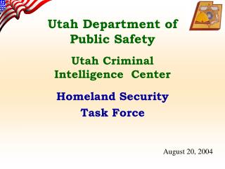 Utah Department of Public Safety Utah Criminal Intelligence  Center