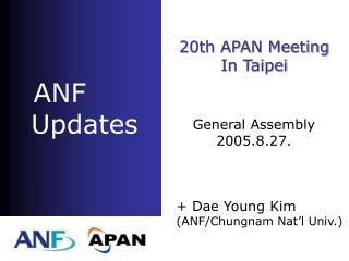ANF     Updates