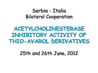 Serbia - Italia Bilateral Cooperation