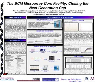 The BCM Microarray Core Facility: Closing the Next Generation Gap