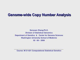 Genome-wide Copy Number Analysis