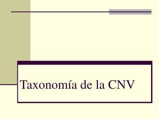 Taxonomía de la CNV
