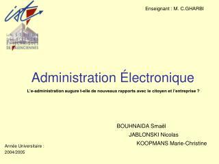 Administration Électronique