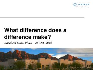 What difference does a difference make?