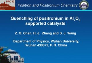 Quenching of positronium in Al 2 O 3  supported catalysts