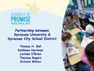 Partnership between  Syracuse University &  Syracuse City School District