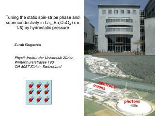 Zurab Guguchia Physik-Institut der Universität Zürich,  Winterthurerstrasse 190,