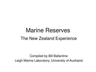 Marine Reserves