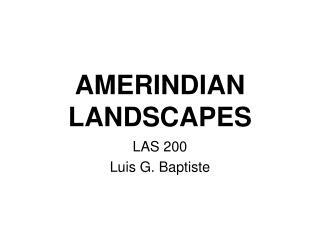 AMERINDIAN LANDSCAPES