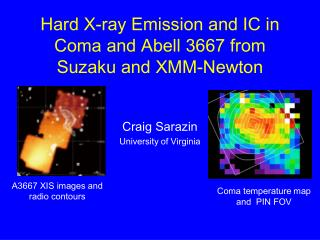 Hard X-ray Emission and IC in Coma and Abell 3667 from Suzaku and XMM-Newton