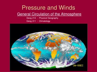 Pressure and Winds
