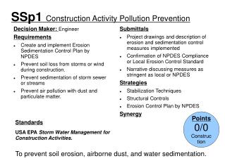 SSp1  Construction Activity Pollution Prevention