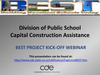 Division of Public School  Capital Construction Assistance