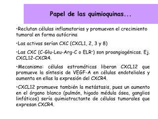 Papel de las quimioquinas...