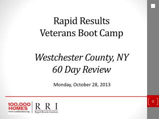 Rapid Results  Veterans Boot Camp  Westchester County, NY 60 Day Review