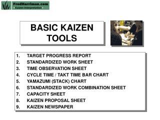 BASIC KAIZEN TOOLS