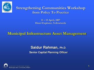 Municipal Infrastructure Asset Management