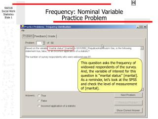 Frequency: Nominal Variable Practice Problem
