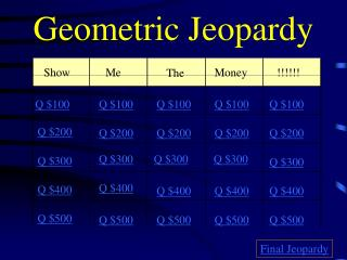 Geometric Jeopardy