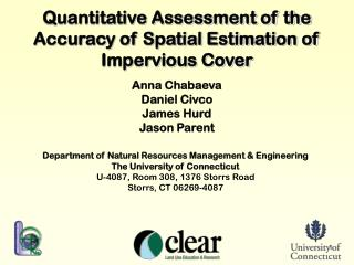 Quantitative Assessment of the Accuracy of Spatial Estimation of Impervious Cover