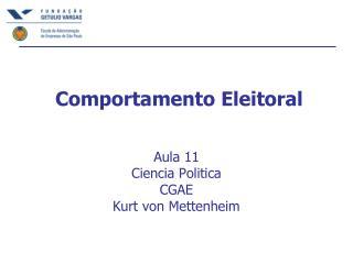Comportamento Eleitoral