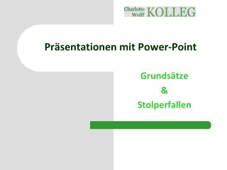 Präsentationen mit Power-Point