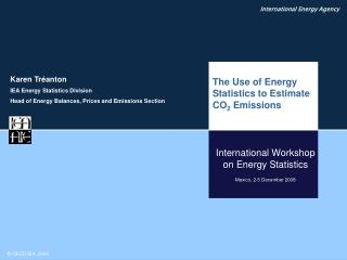 International Workshop on Energy Statistics Mexico, 2-5 December 2008