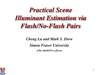 Practical Scene Illuminant Estimation via Flash/No-Flash Pairs
