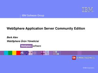 WebSphere Application Server Community Edition