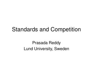 Standards and Competition