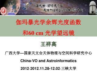 伽玛暴光学余辉光度函数 和 60 cm  光学望远镜