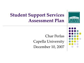 Student Support Services Assessment Plan