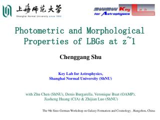 Photometric and Morphological  Properties of LBGs at z~1