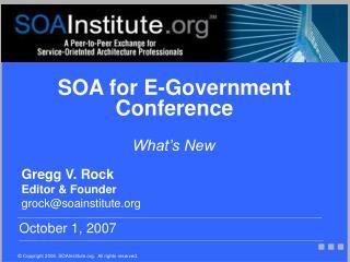 SOA for E-Government Conference