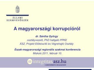 A magyarországi korrupcióról