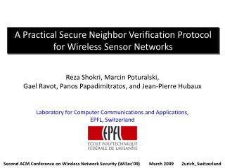 A Practical Secure Neighbor Verification Protocol for Wireless Sensor Networks