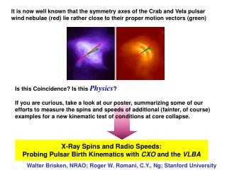 X-Ray Spins and Radio Speeds: Probing Pulsar Birth Kinematics with  CXO  and the  VLBA