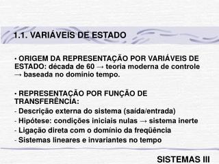 1.1. VARIÁVEIS DE ESTADO