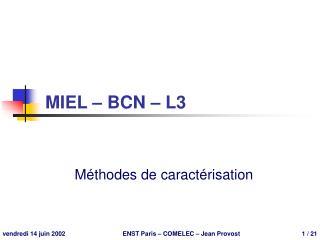MIEL – BCN – L3