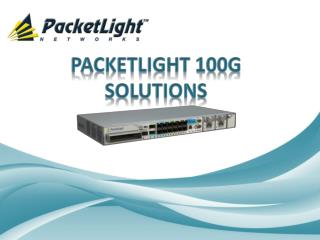 PacketLight 100G  SoluTIONs