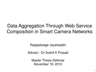 Data Aggregation Through Web Service Composition in Smart Camera Networks