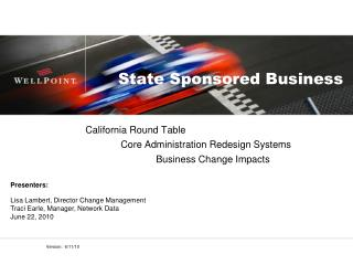 State Sponsored Business