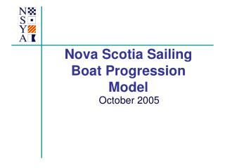 Nova Scotia Sailing Boat Progression Model