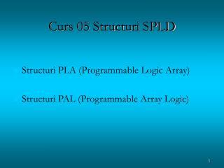 Curs 05 Structuri SPLD
