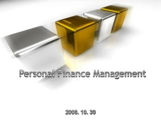 Personal Finance Management
