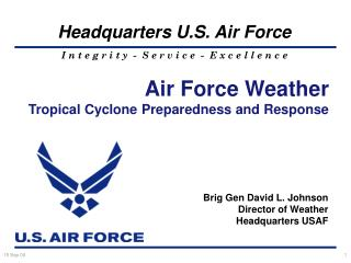 Air Force Weather Tropical Cyclone Preparedness and Response