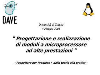 Università di Trieste 4 Maggio 2006