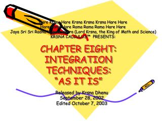 CHAPTER EIGHT: INTEGRATION TECHNIQUES:  AS IT IS