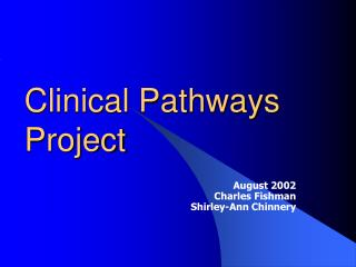 Clinical Pathways Project