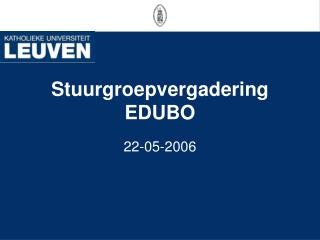 Stuurgroepvergadering EDUBO